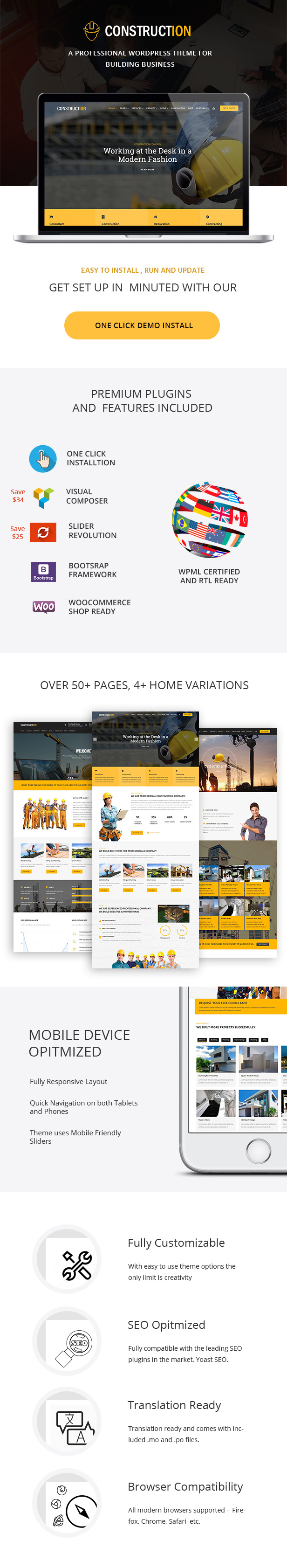 Construction - Building & Renovation WordPress Theme - 3