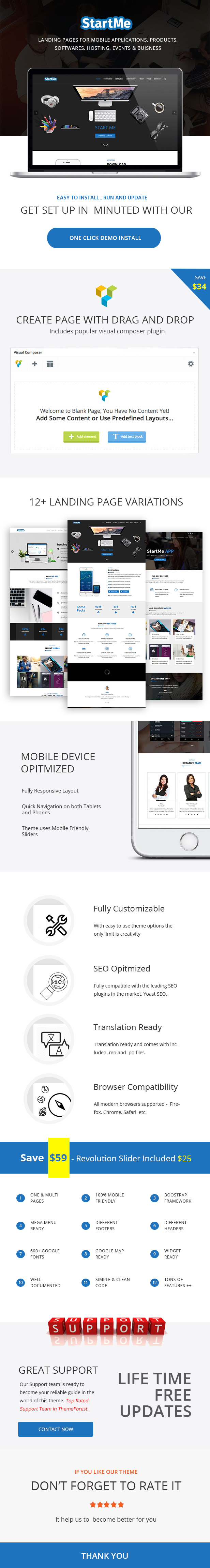 Startme - Landing pages for Mobile App, Products, Software, Hosting & Business - 3