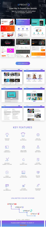 Upbeat - Multi-Purpose Landing Page WordPress Theme - 1